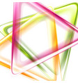 colorful smooth triangles tech abstract background vector image vector image