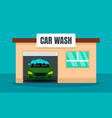 contactless car wash concept background flat vector image