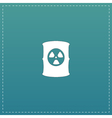 Container with radioactive waste icon vector image vector image