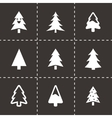 cristmas trees icons set vector image vector image