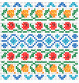cross stitch pattern for clothing with elements vector image vector image