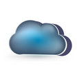 dark clouds rainy day icon vector image