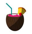 delicious exotic drink vector image vector image