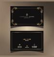 elegant business card design vector image vector image