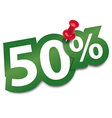 Fifty percent sticker vector image vector image
