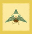 flat shading style icon plant pteridium vector image vector image