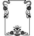 floral Art Nouveau frame vector image