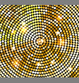 Golden shiny mosaic in disco ball style vector image