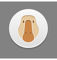 Goose icon Farm animal vector image vector image