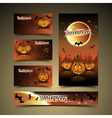 Halloween cards and banner vector image vector image
