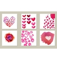 Hand-drawn collection of 6 journaling cards vector image vector image
