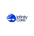 hand infinity mobius limitless care donation help vector image
