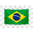 hanging flag brazil federative republic of vector image vector image