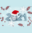 happy christmas and new year background and 2021 vector image vector image