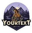 horse mustang vintage ranch adventure logo vector image vector image