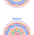 Invitation Or Card With Colorful Mandala Design vector image