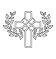 Isolated religion cross design vector image vector image