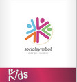 kids logo social events community vector image vector image