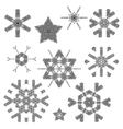 Lace Christmas elements vector image vector image