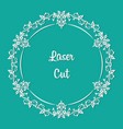 laser cut floral ornament elegant border vector image vector image