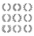 laurel wreath award icons vector image