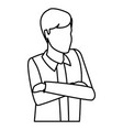 man with crossed arms avatar