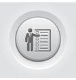 Management Icon Grey Button Design vector image