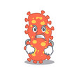 Mascot design concept bacteroides with angry