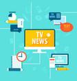 mass media global tv news vector image