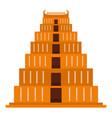 mayan pyramid icon flat style vector image