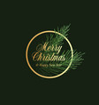 merry christmas abstract classy label sign vector image vector image