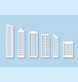 origami city houses paper buildings with windows vector image vector image