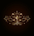 ornate golden design element vector image