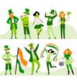 people in festive costumes celebrating saint vector image vector image