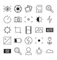 photography line icon collection vector image vector image