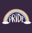 rainbow pride vector image vector image
