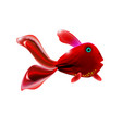 red little glossy fish cartoon funny life sea vector image vector image