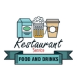 restaurant menu food design vector image