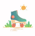 roller skate isolated on a vector image