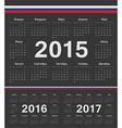 Russian circle calendars 2015 2016 2017 vector image vector image