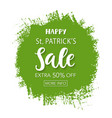 saint patricks day sale typography banner template vector image vector image