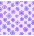 Seamless flat violet Flower Background vector image vector image