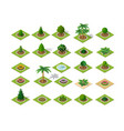 set design elements isometric vector image