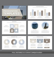 set of gray and brown elements for multipurpose vector image vector image