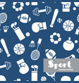 set of sports icons doodle seamless pattern vector image