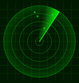 simple radar screen readout vector image