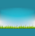 spring banner with grass vector image