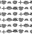 Stylized hand-drawn eyes seamless pattern vector image vector image