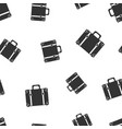 suitcase seamless pattern background business vector image vector image