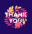 thank you - modern flat design style vector image